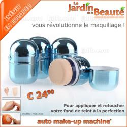 Auto Make-Up Machine MINI-MISS Bleue - 1 unité dans sa pochette style organza