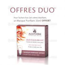 OFFRE DUO 1 Gel Crème Matifiant Algotherm & 1 Masque Purifiant 25ml OFFERT - Tube 50ml