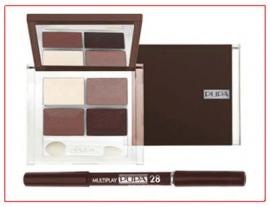 Smoky Eyes Kit Marron Pupa n° 28 - 4 Palettes † 1 Crayon † 1 kajal † 1 Fard