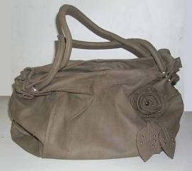 Sac Fashion Motif Rose - Couleur Taupe